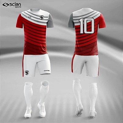 Jogo Camisa, Short, Meião Futebol | Série Premium ss81