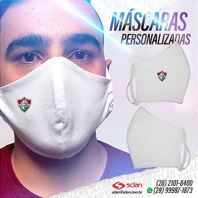 Máscara de proteção Fluminense personalizadas 100% Algodão Reutilizável - 3 Unidades