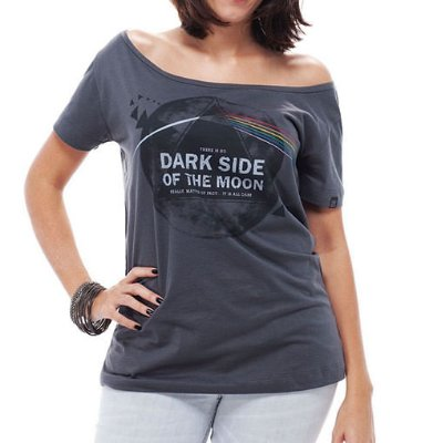 Camiseta Feminina Dark Side Cinza