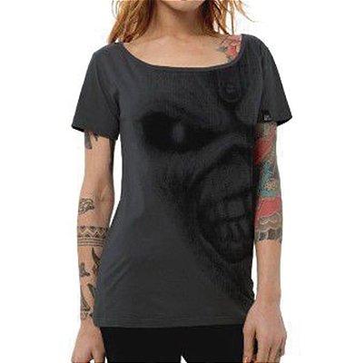 Camiseta Feminina Eddie Cinza