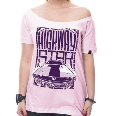 Camiseta Feminina Highway Star Rosa