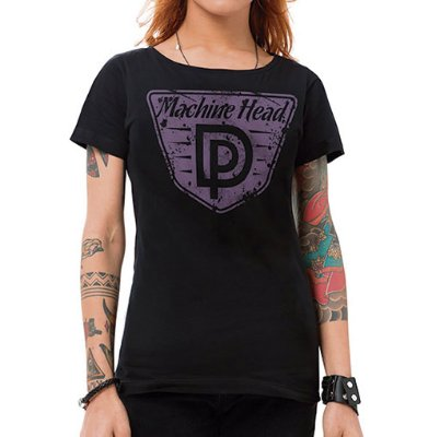 Camiseta Feminina Machine Head Preta