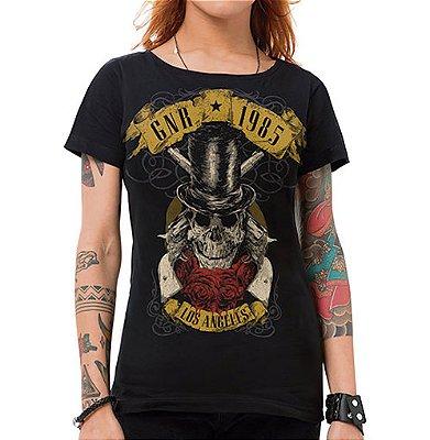 Camiseta Feminina GNR 1985 Preta