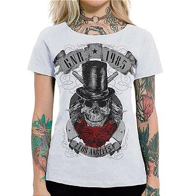Camiseta Feminina GNR 1985 Branca