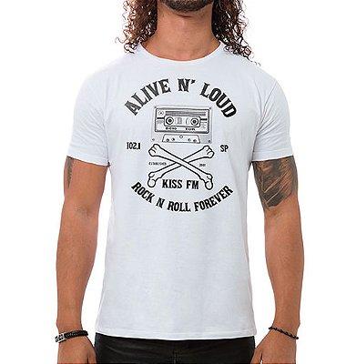 Camiseta Masculina Alive n' Loud Branca