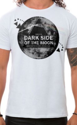 Camiseta Masculina Dark Side Branco