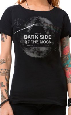 Camiseta Feminina Dark Side Preto