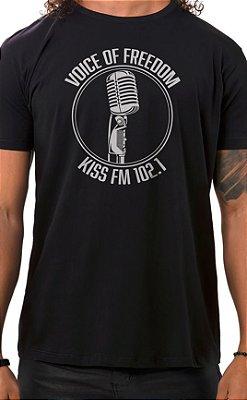Camiseta Masculina Voice of Freedom Preto