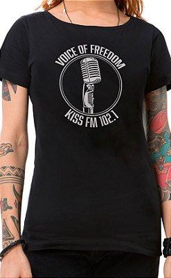 Camiseta Feminina Voice of Freedom Preto