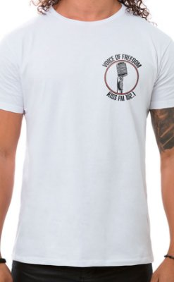 Camiseta Masculina Voice of Freedom XT Branco