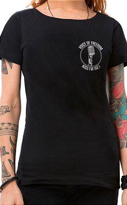 Camiseta Feminina Voice of Freedom XT Preto