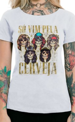Camiseta Feminina Sweet Beer O Mine Branco