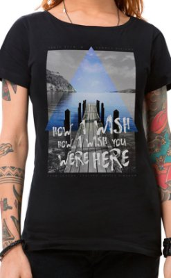 Camiseta Feminina How I Wish Preto