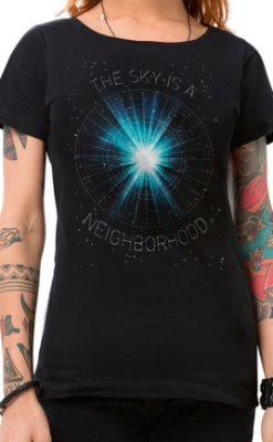Camiseta Feminina Neighborhood Sky Preto