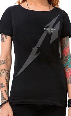 Camiseta Feminina Metal Up Preto