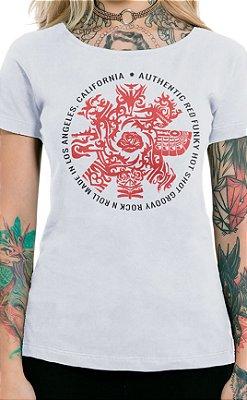 Camiseta Feminina Red Hot Groovy Branco