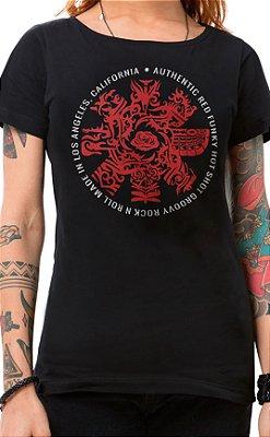 Camiseta Feminina Red Hot Groovy Preto