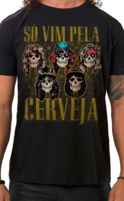 Camiseta Masculina Sweet Beer O Mine Preto