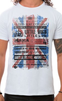 Camiseta Masculina Bohemian Queen Branco