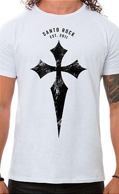 Camiseta Masculina Battle Cross Branco