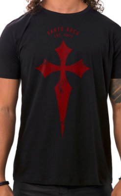 Camiseta Masculina Battle Cross Preto