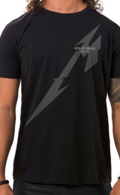 Camiseta Masculina Metal Up Preto