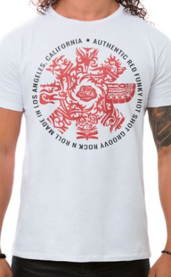 Camiseta Masculina Red Hot Groovy Branco