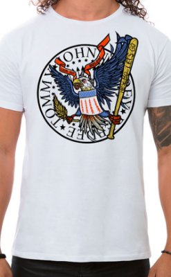Camiseta Masculina Hey Ho Eagle Branco