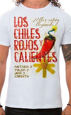 Camiseta Masculina Rojos y Calientes Branco