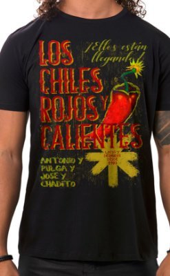 Camiseta Masculina Rojos y Calientes Preto