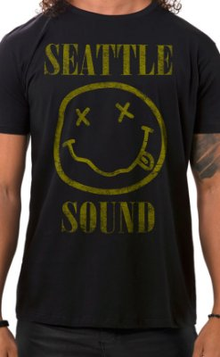 Camiseta Masculina Seattle Sound Preto