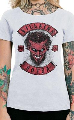 Camiseta Feminina Villains of QOTSA Branco