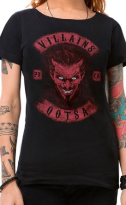 Camiseta Feminina Villains of QOTSA Preto