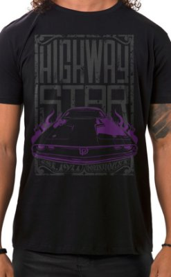 Camiseta Masculina Highway Star Preto