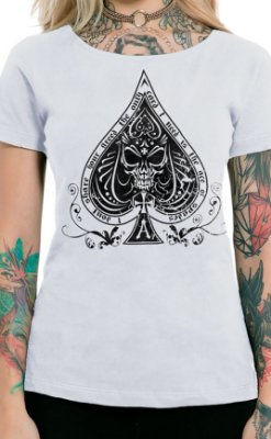 Camiseta Feminina Ace of Spades Branco