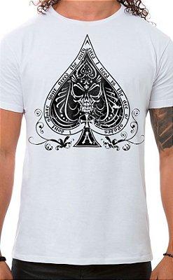 Camiseta Masculina Ace of Spades Branco