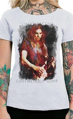 Camiseta Feminina Floydian Numb Branco