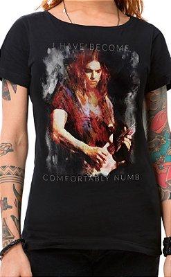 Camiseta Feminina Floydian Numb Preto