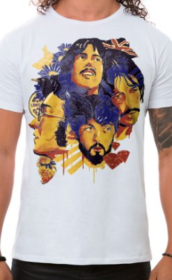 Camiseta Masculina Fab Four of Liverpool Branco