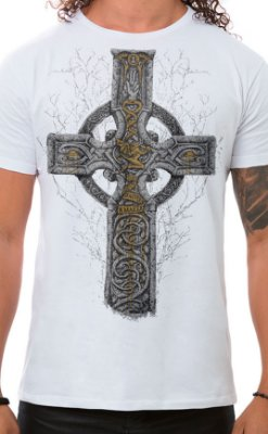 Camiseta Masculina Sabbath Cross Branco