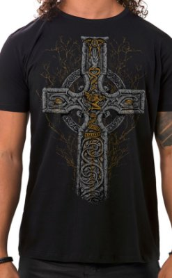 Camiseta Masculina Sabbath Cross Preto