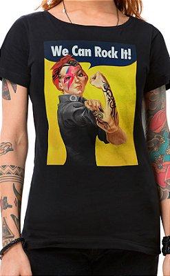 Camiseta Feminina We Can Rock It Preto