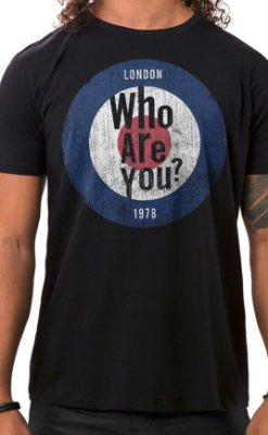 Camiseta Masculina Who Are You Preta