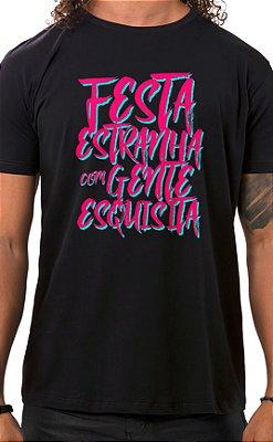 Camiseta Masculina Festa Estranha Preto