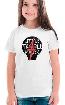 Camiseta Infantil Little Troublemaker Branco
