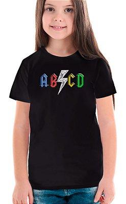 Camiseta Infantil ABCD Preto