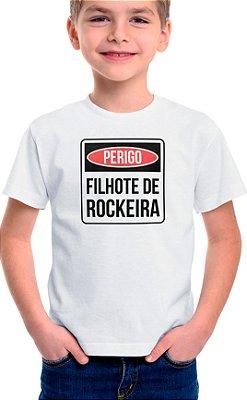 Camiseta Infantil Filhote de Rockeira - Branco