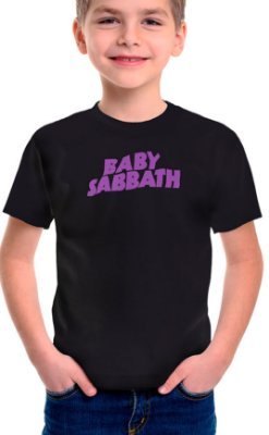 Camiseta Infantil Baby Sabbath Preto