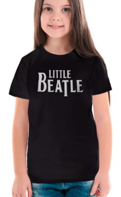 Camiseta Infantil Little Beatle Preto