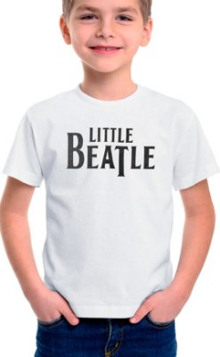 Camiseta Infantil Little Beatle Branco